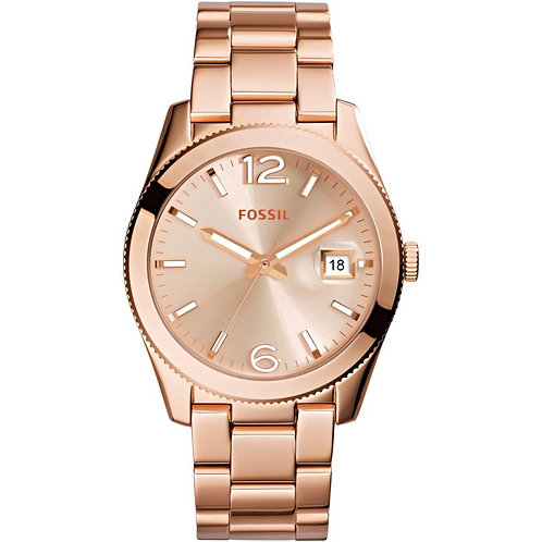 Fossil ES3587 Ladies Perfect Boyfriend Rose Gold-Tone Watch