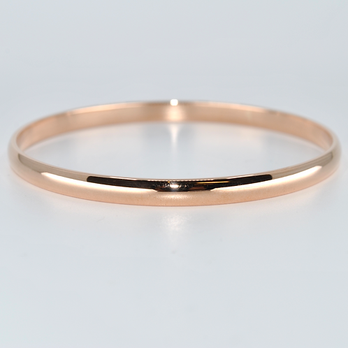 J021R 9ct Rose Gold Solid Bangle