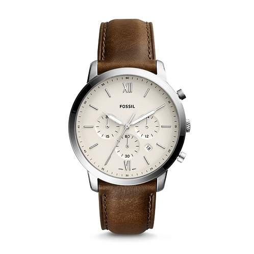 Fossil FS5380 Neutra Chronograph Brown Leather Watch