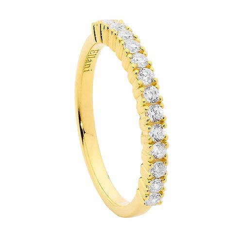 Ellani R497G Claw set CZ Ring Yellow