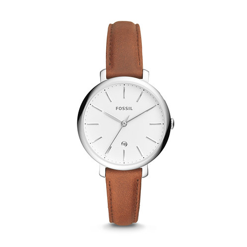 Fossil ES4368 Jacqueline Three-Hand Date Brown Leather Watch