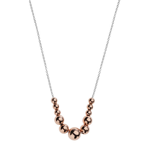 Najo N3317 Abacus Necklace Silver/Rose