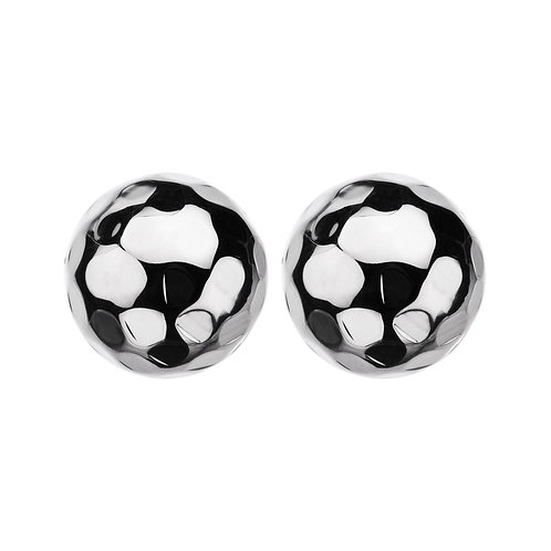Najo E5376 Beaten Large Ball Stud Earring