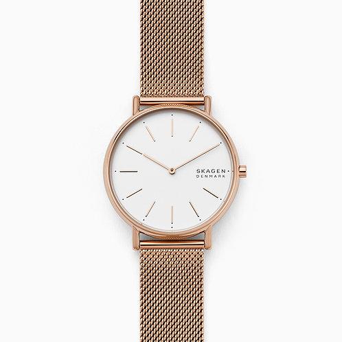 Skagen SKW2784 Signatur Rose-Tone Steel-Mesh Watch