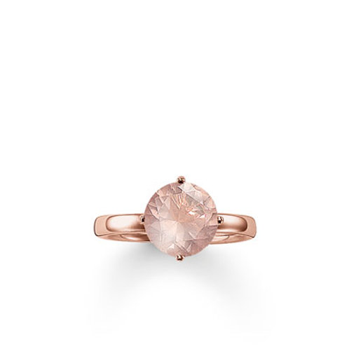 Thomas Sabo TR2039-56 Rose Tone Ring set with Rose Quartz