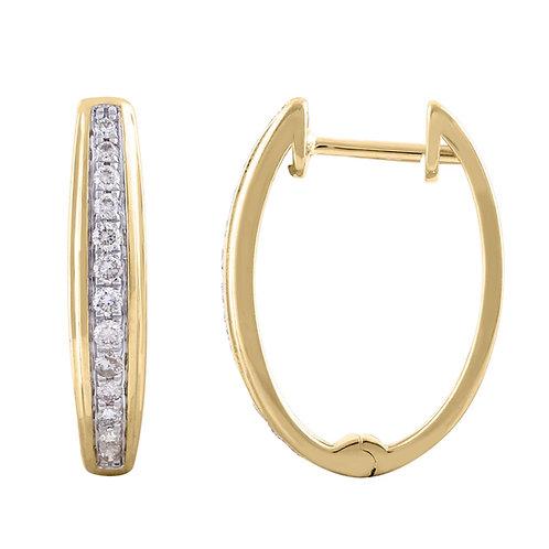IGE-14953 - 9ct Diamond Huggie Earrings