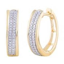 IGE-12334 - 9ct Diamond Huggie Earrings