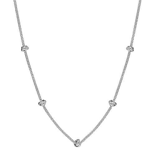 Najo N6223 Oceans Necklace Short Silver