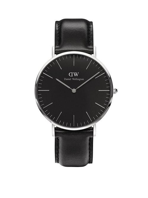 Daniel Wellington DW00100133 Classic Sheffield Silver 40mm Black