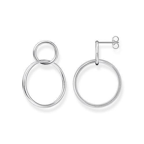 Thomas Sabo H2097-001-21 Sterling Silver 'Circle' Earrings
