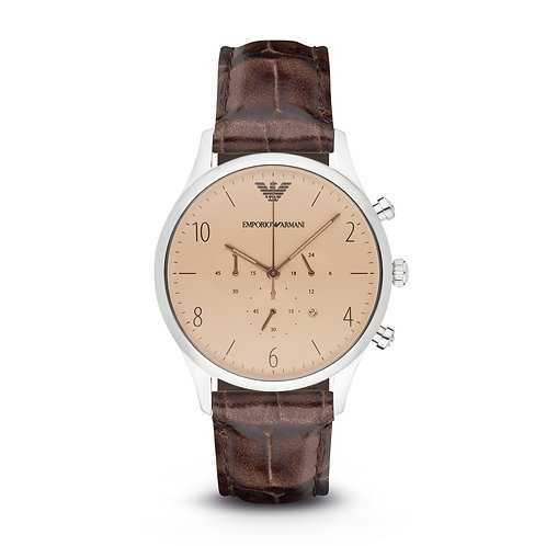 Emporio Armani AR1878 Classic Brown Leather Watch