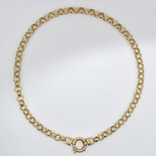 J028Y 9ct Yellow Gold Belcher Necklace