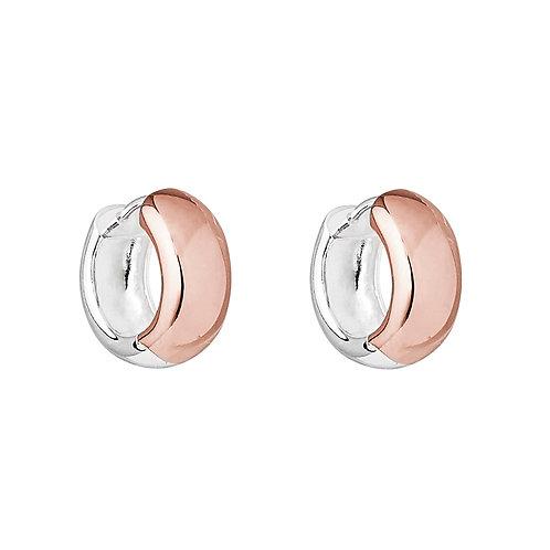 Najo E6137 Breeze Rose/Silver Huggie Earring