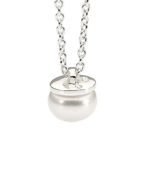 Pastiche J851PL-43 Freshwater Pearl Necklace Silver
