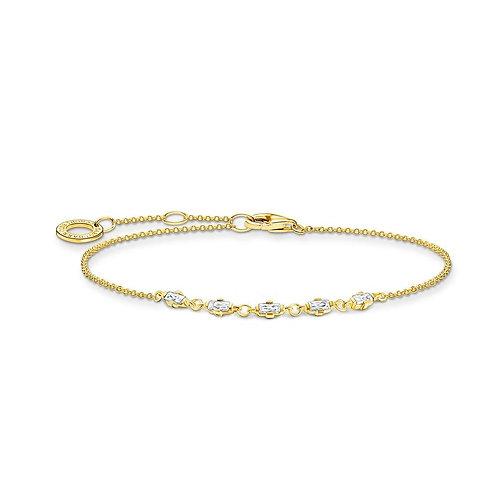 Thomas Sabo TA2024Y Bracelet 'Vintage' CZ's Yellow Tone
