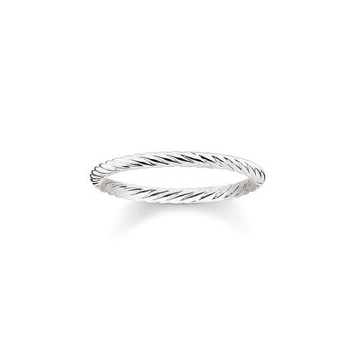 "Thomas Sabo TR2121-001-12-52 Silver ""Cord Look"" Ring"