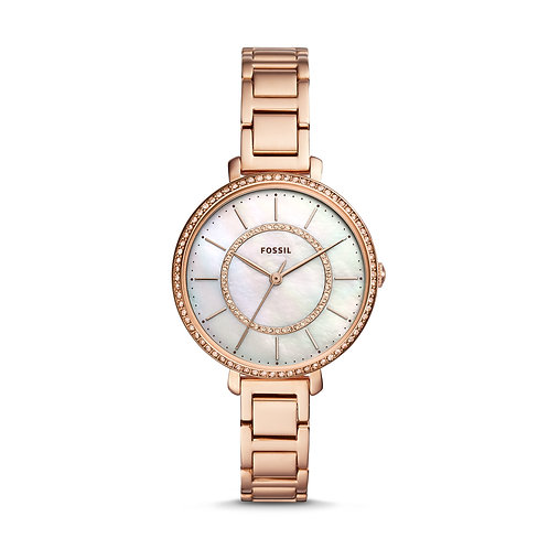 Fossil ES4452 Jocelyn Three-Hand Rose-Tone Stainless Steel Watch