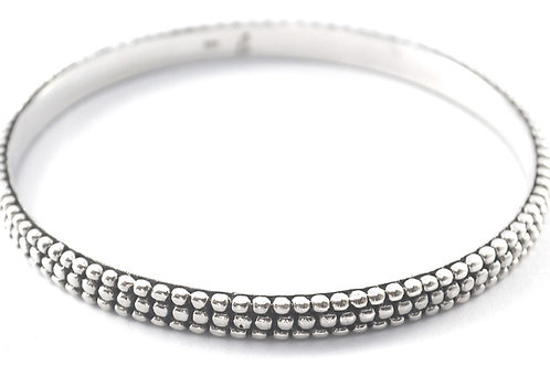 Indiri B310 WEDA Sterling Silver Heavy Triple Bead Bangle