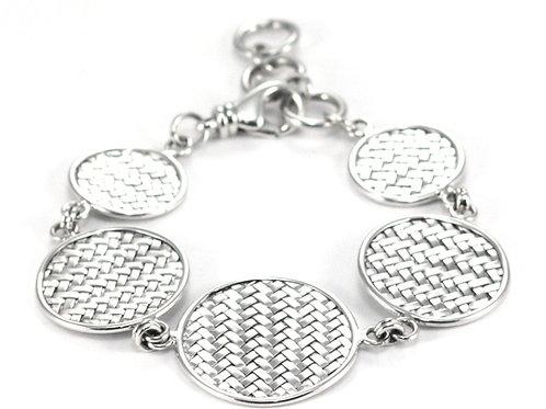 Indiri B022 ANYA Sterling Silver Graduated Circles Bracelet