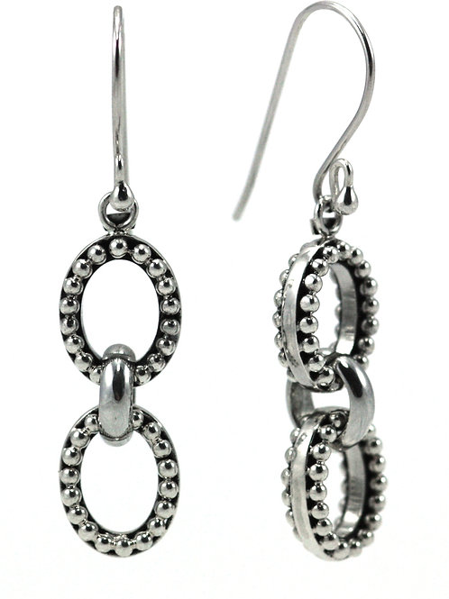 Indiri E011 INDA Thick Bead Drop Earrings