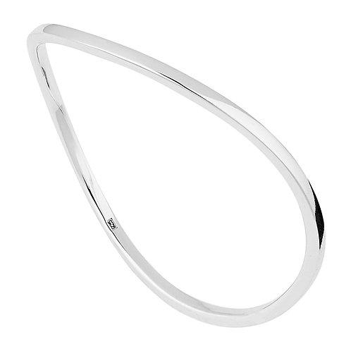 Najo B6105 Undulate Bangle Silver