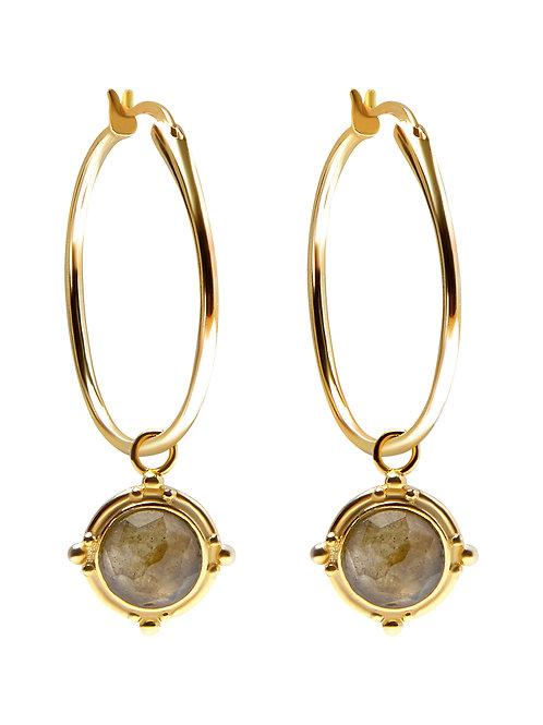 Pastiche E1928YGLB Jade Vine Earrings Yellow