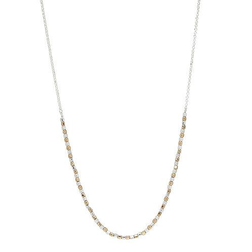 Najo N6359 Golden Pretty Pebble Necklace Yellow/Silver
