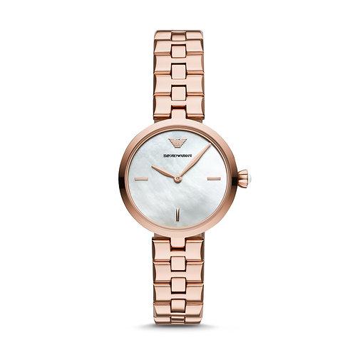 Emporio Armani AR11196 Ladies Classic Rose-Tone Watch