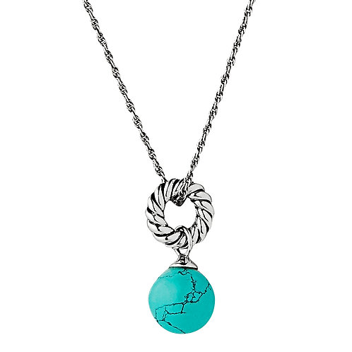 Najo N6149 Fateful Turquoise Necklace Silver
