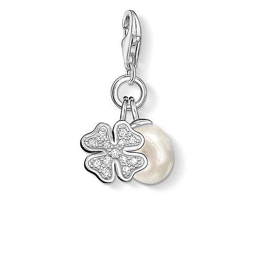 Thomas Sabo Charm CC831 - 'Cloverleaf with Pearl'