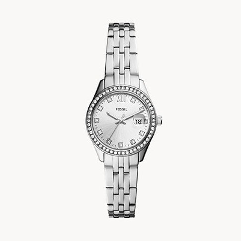 Fossil ES5039 Scarlette Micro Three-Hand Date Stainless Steel Watch