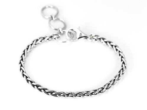 Indiri B521 SURA Sterling Silver Nadi Woven Bracelet