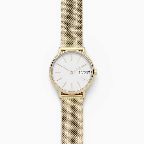 Skagen SKW2693 Signatur Gold-Tone Steel-Mesh Watch