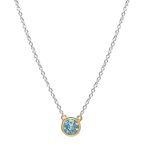 Najo N6267 Renown Necklace Blue Topaz Silver/Yellow