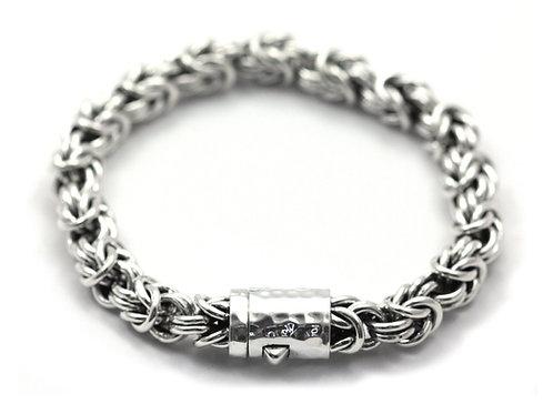 Indiri B703 DASA Sterling Silver Open Byzantine Link Bracelet