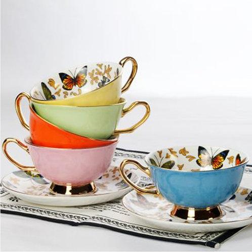 Butterflies in Solstice Tea Cup and Saucer