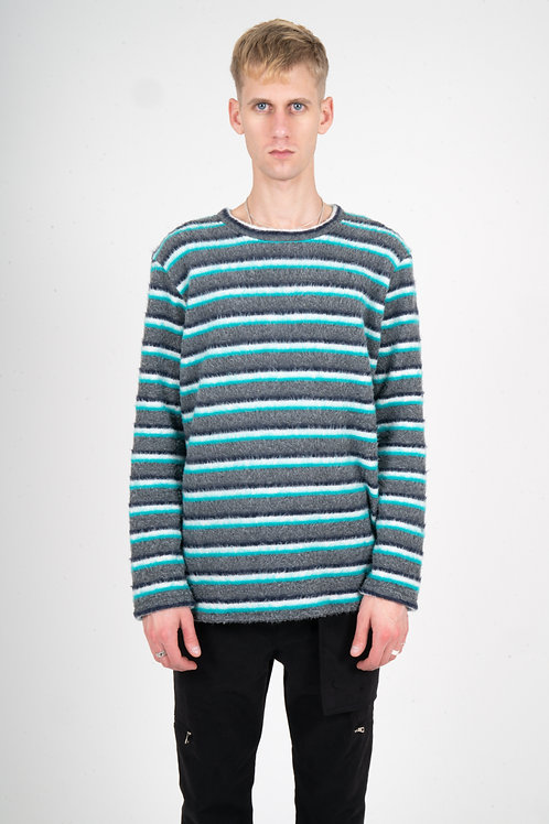 """TURQUOISE """"WOOL-BLEND"""" SWEATER"""