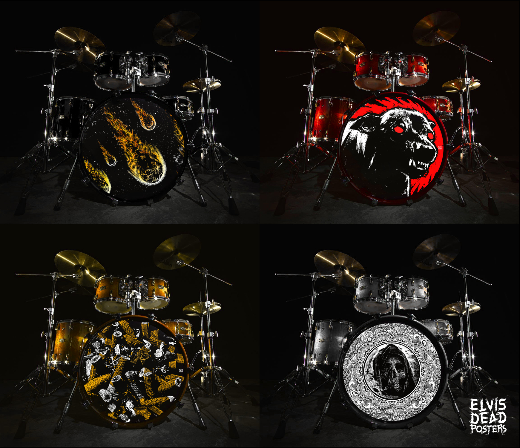 Bass Drum Stickers