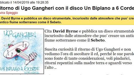 Il ritorno di Ugo Gangheri con il disco Un Biplano a 6 Corde