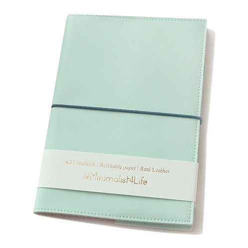 "Real Leather Notebook (Turquoise, 8.7"" x 5.8"" A5)"