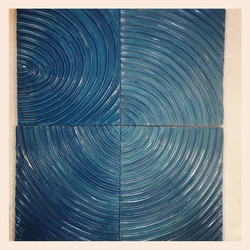 Radial Sculpted Wall Hanging