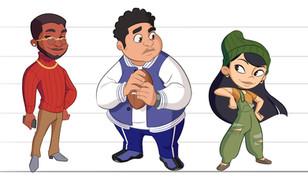 character lineup (teens)