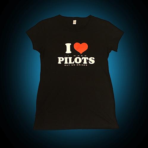 I Heart Pilots Shirt