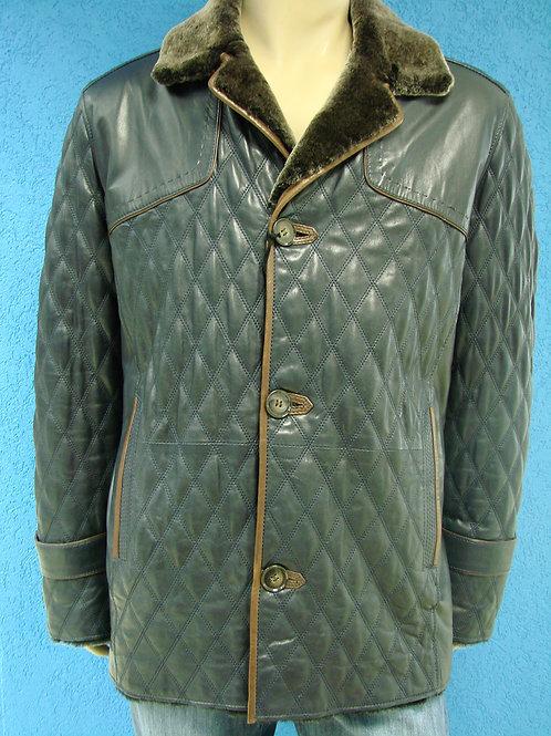 """Куртка мужская кожаная на меху """"Braganza"""" DK-121"""
