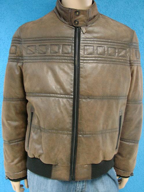 "Куртка мужская кожаная (утепленная) ""Mendo"" 53245"