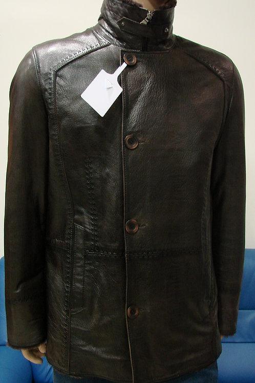 """Куртка мужская кожаная на меху """"Braganza"""" DK-119"""