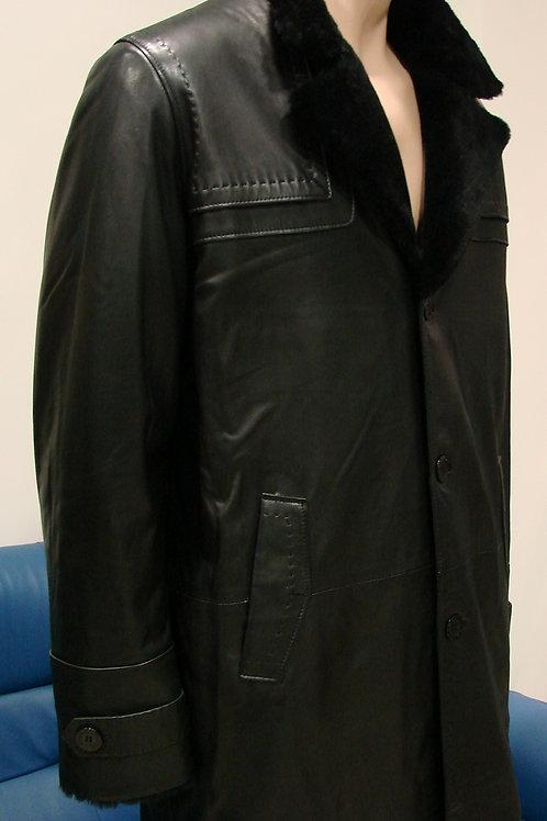 """Куртка мужская кожаная на меху """"Bertotto"""" 061"""