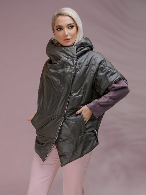 "Куртка женская двусторонняя ""Marco Moretti"" 5009"