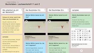 Buchstaben- Lautewerkstatt Padlet Y/Z