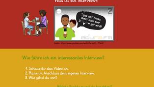 Wie erstelle ich ein interessantes Interview?
